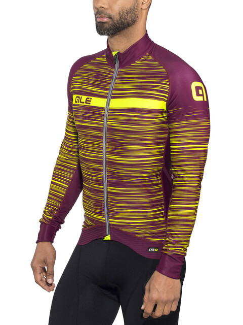 Alé Cycling Graphics PRR The End LS Jersey Men bordeaux-fluo yellow